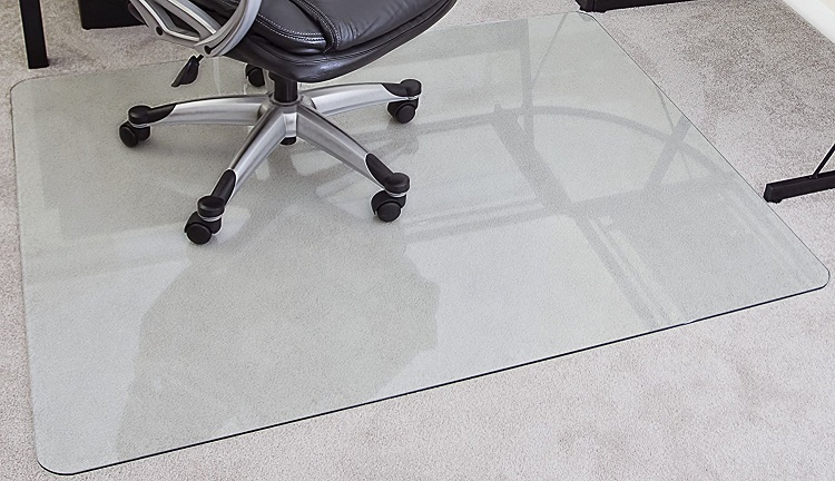 Premium Product 48 X 60 Inch Tempered Glass Chair Mat