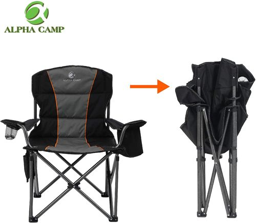ALPHA CAMP Oversized Camping Folding Chair 1