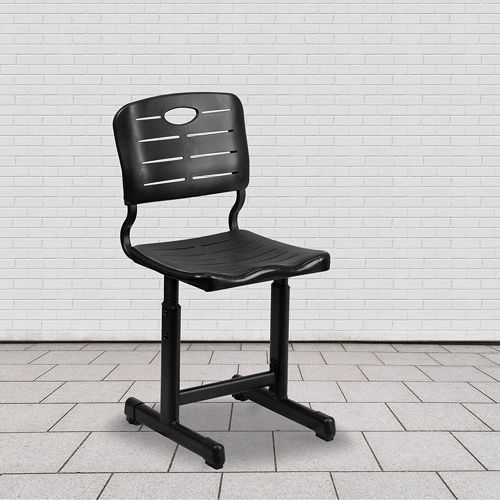 Adjustable Height Black Student Chair 1