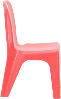 Flash Furniture 10 Pack Red Plastic Stackable School Chair 3