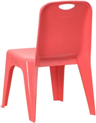 10 Pack Red Plastic Stackable School Chair 4