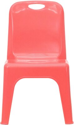 10 Pack Red Plastic Stackable School Chair 5