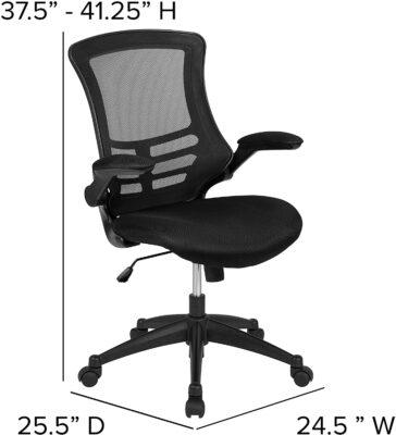 Flash Furniture Mid Back Black Mesh Chair 3